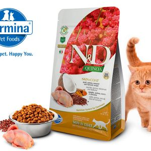 N&D CAT - SKIN&COAT QUAIL granule 1,5KG